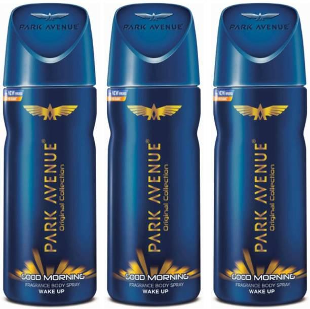 PARK AVENUE Good Morning Deodorant Combo Pack of 3 Deodorant Spray  -  For Men