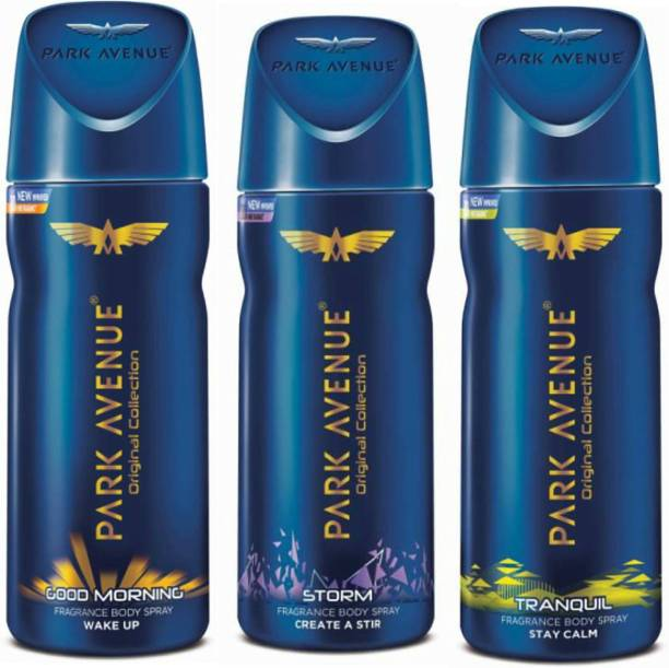 PARK AVENUE Good Morning, Storm, Tranquil Deodorant Spray  -  For Men