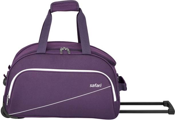 Safari 55 Inch 140 Cm Pep Rdfl Purple Trolley Duffel Bag Strolley