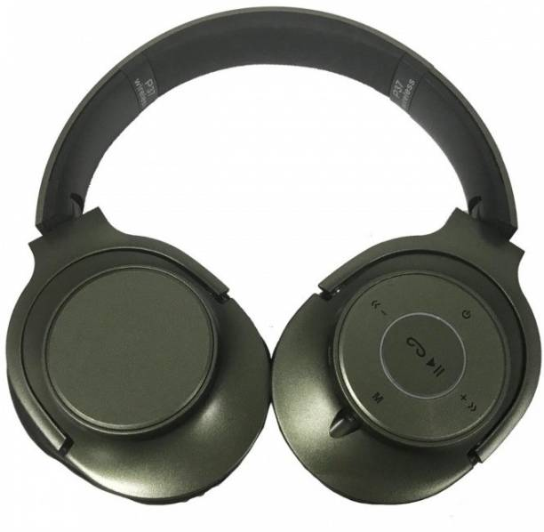 6bccf4fb9350 Shrih Military Green 4.2 EDR Wireless Extra Bass Bluetooth Stereo Headset  Bluetooth Headset with Mic