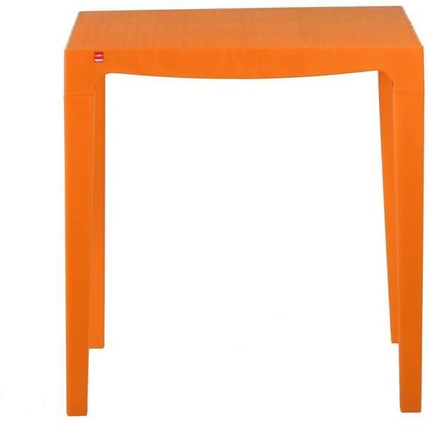 cello Amaze Orange Plastic Outdoor Table
