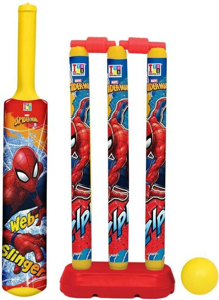 MARVEL Spider-Man Bat, Ball & Stumps My First Cricket Kit
