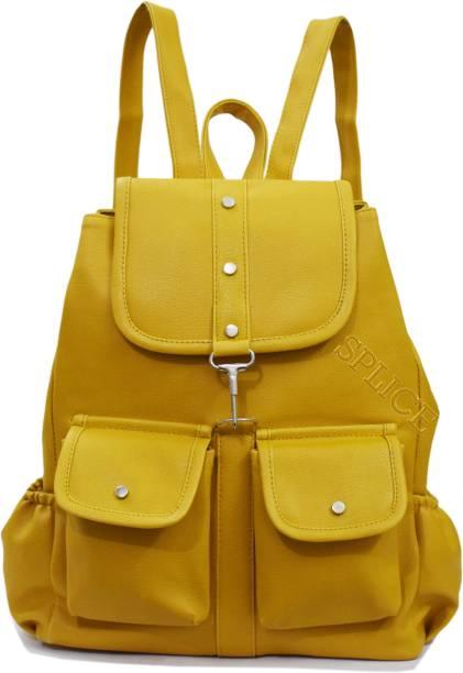 RIDGEWOOD PU Leather Backpack School Bag Student Backpack Women Travel bag 6 L Backpack