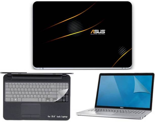 GALLERY 83 ® asus logo wallpaper 3 in 1 combo pack with laptop skin sticker decal, key guard, Screen protector all are laptop 15.6 inch Combo Set 3559 vinyl Laptop Decal 15.6 Combo Set