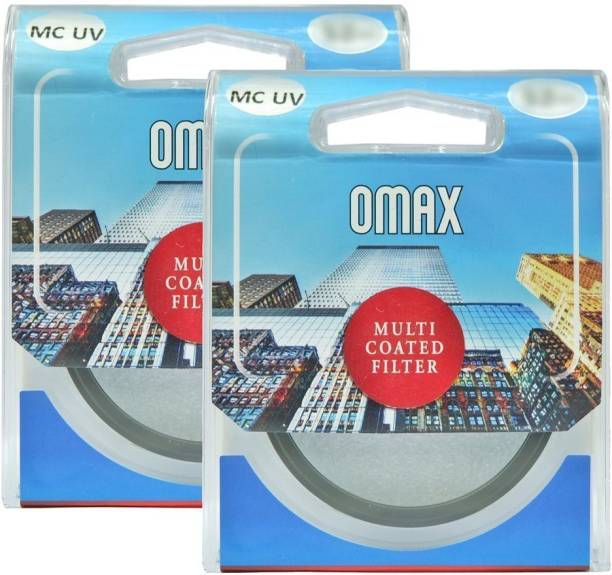 OMAX mc uv filter for Nikon d3400/d5300/d5600 af-p 18-55mm vr + af-p 70-300mm vr Lens (Set of 2 Filter) UV Filter