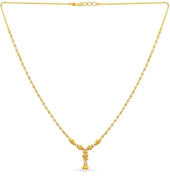 dc4a5596513380 Gold Necklace - Buy Gold Necklace online at Best Prices in India ...