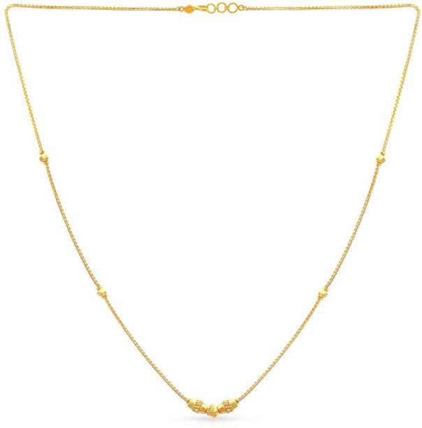 b56a3b10c Malabar Gold and Diamonds NKCOVM0004 Princess Yellow Gold Precious Necklace