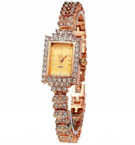 7e7251109 SOOMS women Designer & fashionable Bracelet Rose gold Rhinestone Studded  fancy party & casual wear alloy
