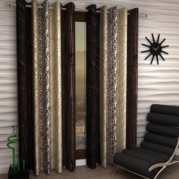 Phyto Home 153 cm (5 ft) Polyester Window Curtain (Pack Of 2)