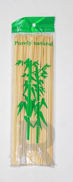 shopely spy10 Inches (100 sticks)+(50 sticks) free Disposable Bamboo Roast Fork Set