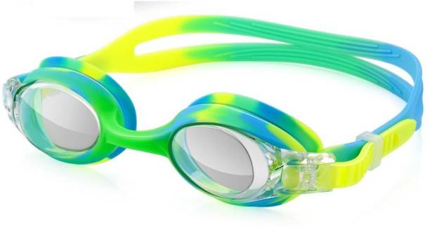 28f15c489a26 QUINERGYS ™ Green Blue Mix - Anti Fog UV Protection Triathlon Swim Goggles  with Free