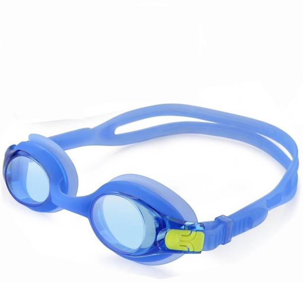 f7c51f4d4128 QUINERGYS ® Blue Yellow - Anti Fog UV Protection Triathlon Swim Goggles  with Free Protection