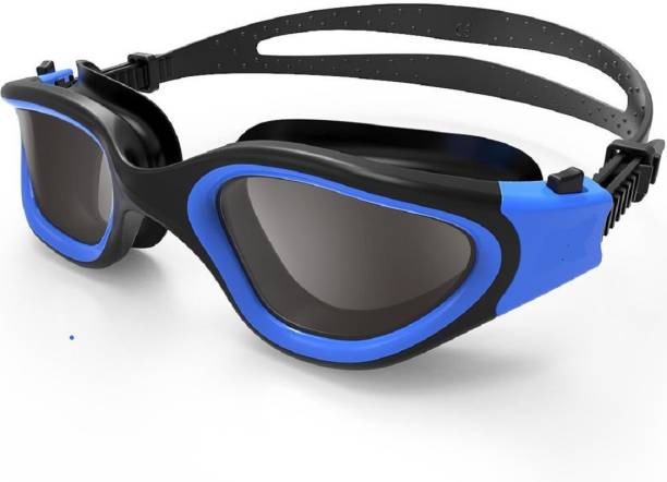 fe8ee1a3c745 QUINERGYS ™ Black Blue - Anti Fog UV Protection Triathlon Swim Goggles with  Free Protection