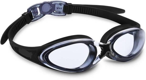 b7127649a10 QUINERGYS ® Black - Swim Goggles - Anti Fog - Mirror Coating - Latex Free -