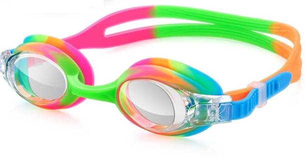 f95b784f39f8 QUINERGYS ® Green Red Mix - Liquid Silicone Swimming Goggles Crystal Clear  No Leaking Anti