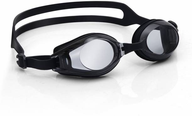a211efe69148 QUINERGYS ™ Metallic Black - Competitive Swimming Goggles for Women Men  Youth Kids Girls Boys Adult