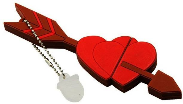 PANKREETI PKT321 Red Heart 32 GB Pen Drive