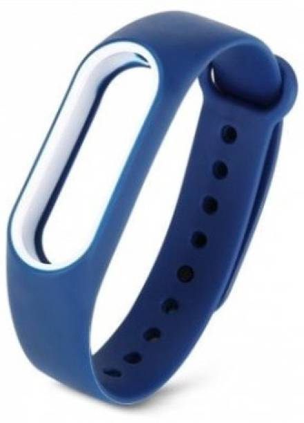 Epaal Dual Color Band for Mi Band HRX & Mi Band 2 - Blue-whiteline Smart Band Strap