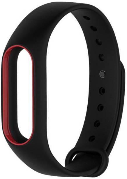Epaal Dual Color Band for Mi Band HRX & Mi Band 2 - Black-redline Smart Band Strap