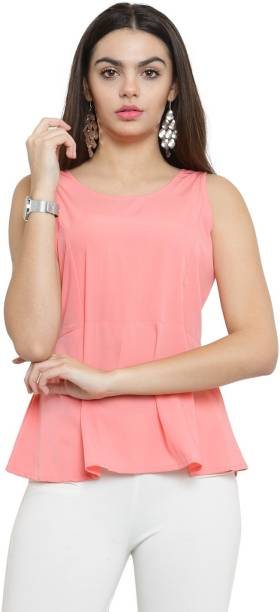07d2789b7d4b1 Sleeveless Tops - Buy Sleeveless Tops Online at Best Prices In India ...