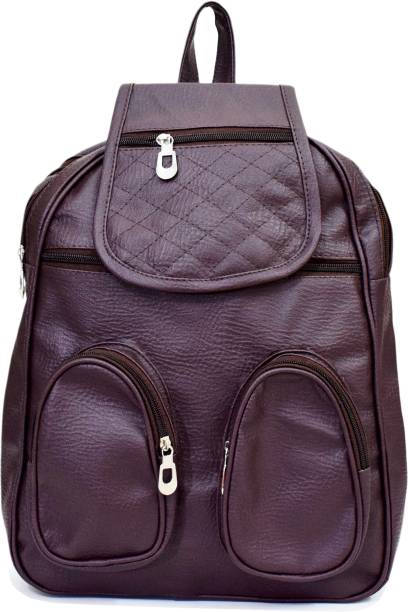 SPLICE PU Leather Backpack School Bag Student Backpack Women Travel bag 6 L  Backpack dd282ce977227