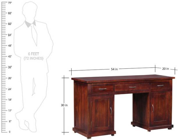 Balaji Wooden Solid Wood Computer Desk