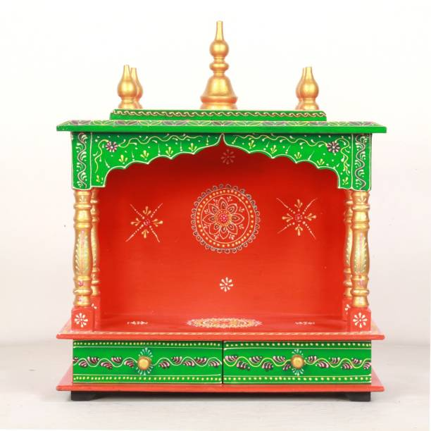 HOME AND BAZAAR HB17KI-122 Solid Wood Home Temple