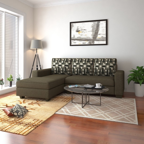 Perfect Homes By Flipkart Trieste Fabric 3 Seater Sofa