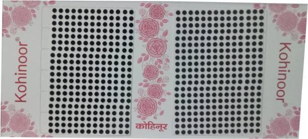 Kohinoor Plain Black Bindi For Women All Skin Type Black Bindis