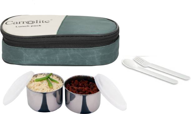 Carrolite Max Fresh Click 2 Containers lunchbox Mehndi 2 Containers Lunch Box