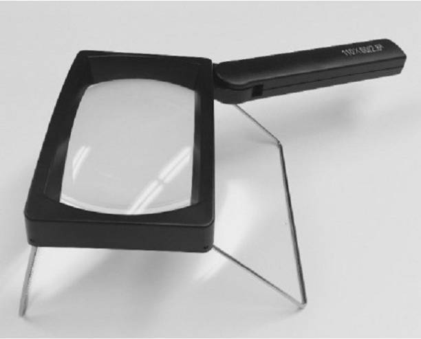 db8b1dfb24 omtao Rectangular LED Magnifier with Stand Rechargeable Battery 3x Low  Vision Aids