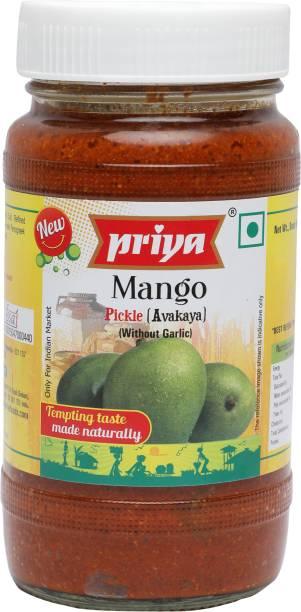 Priya Avakaya without Garlic Mango Pickle