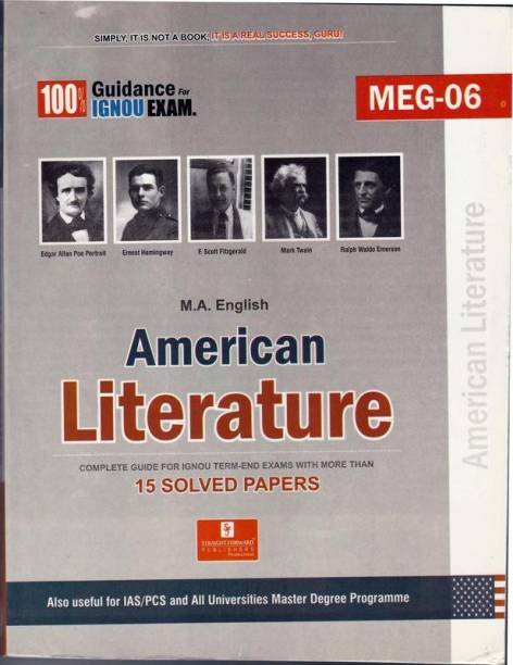 MEG 6 American Literature (Including Previous Year Solved Question Papers)
