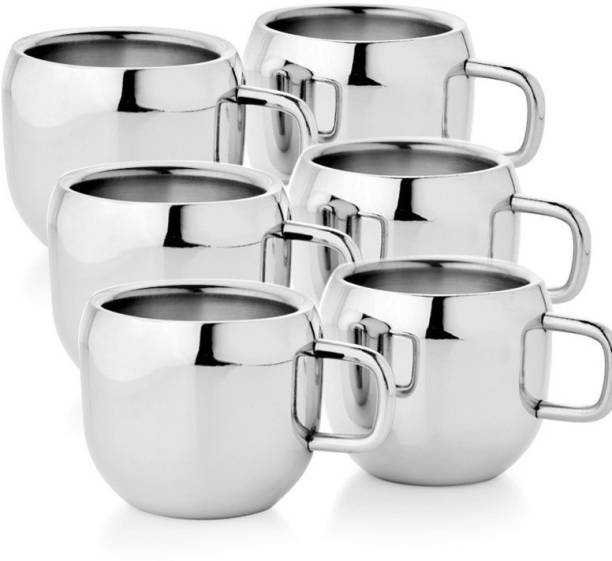 Glocal Source Pack of 6 Stainless Steel Apple