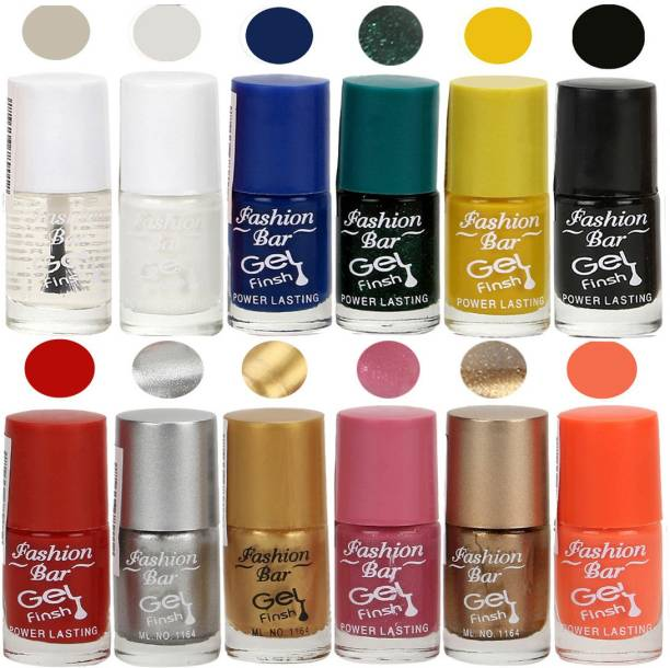 Fashion Bar Neon Nail Polish Combo 07 Multicolor