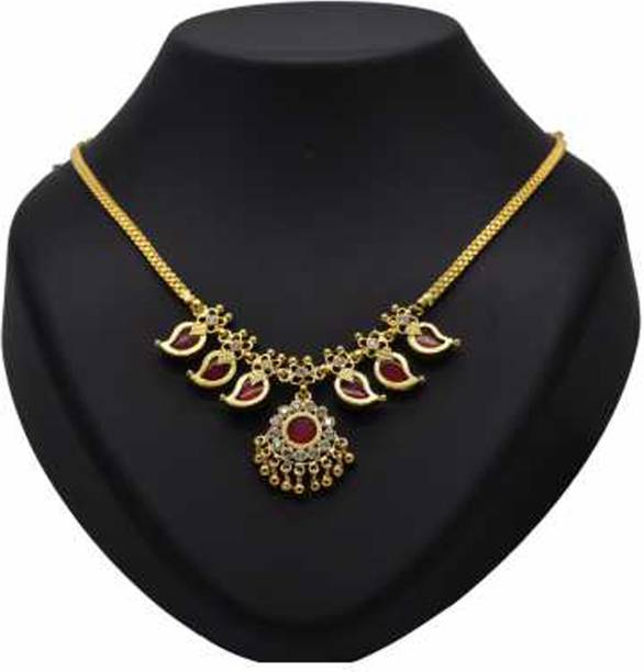 9564fe8c855c54 KOLLAM SUPREME One Gram Gold Plated Traditional Mango Necklace Gold-plated  Plated Alloy Necklace