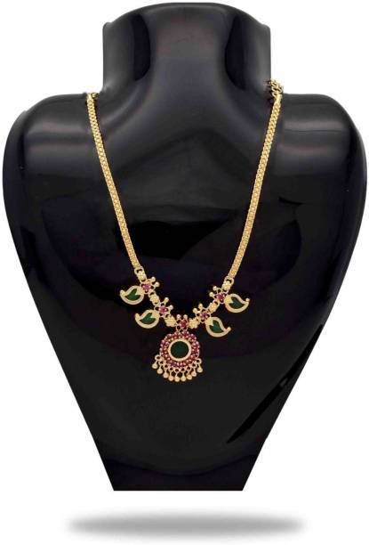 df720c9897f8e4 KOLLAM SUPREME Traditional Kerala Mango Necklace Gold-plated Plated Alloy  Necklace