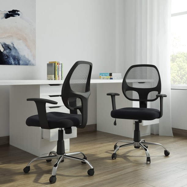 DZYN Furnitures Linen Office Executive Chair & Office Study Chairs | Buy Featherlite Office Chairs Online at Best ...
