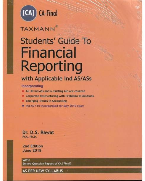 Taxmann Financial Reporting, With Applicable Ind As/ass (New Syllabus) For Ca Final