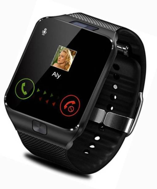 6a6a8951de6 ALONZO Oppo 4G Compatible Bluetooth Dz09 Smart Watch Phone with Camera    SIM Card Support Black