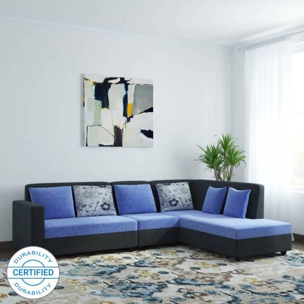 Bharat Lifestyle Nano Fabric 6 Seater  Sofa