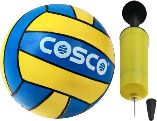 COSCO Shot VolleyBall Size-4 with High Pressure Ball Hand Pump Volleyball - Size: 4