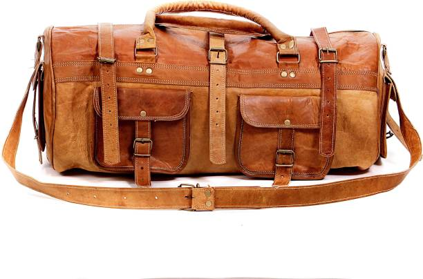 9c12184845 Pranjals House 22 inch 56 cm (Expandable) vintage handmade leather duffel  bag Travel
