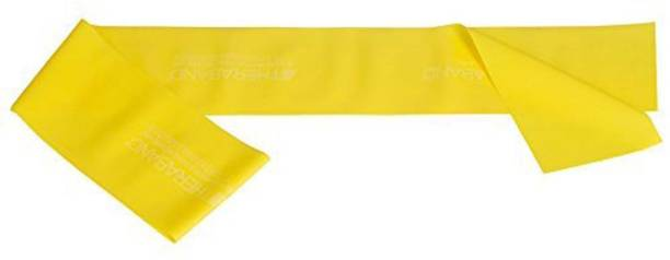 Thera-Band Theraband Yellow Thin / Light Resistance Latex Free Exercise Band 5 Feet( Length) x 4 Inches( Width) Resistance Band