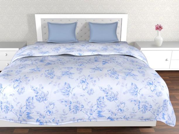 Elegant Cannon By Big Bazaar 130 TC Polycotton Single Floral Bedsheet