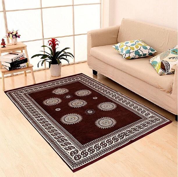 Zesture Brown Chenille Carpet
