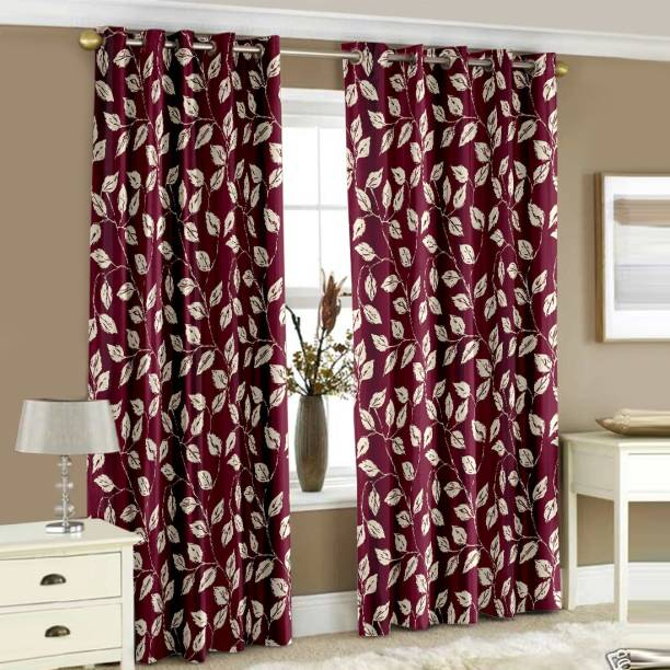 Story@home 152 cm (5 ft) Polyester Window Curtain (Pack Of 2)