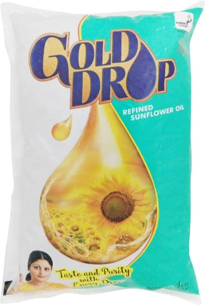 Gold Drop Refined Sunflower Oil Pouch