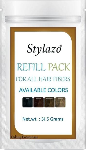 Stylazo Hair Building Fibers Refill Pack (Hair Loss Concealer) For All Fibres ,31.5 grams, Natural Black