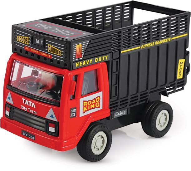 Shinsei Pull Back Goods Carrier Dumper | Opening Doors | Miniature Scaled Models || Dinky Cars | - Red Colour